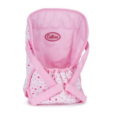 Calinou Porte bébé pour poupons 30 à 42 cm : rose