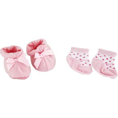 Calinou Accessoires pour poupée : chaussons et chaussettes : rose