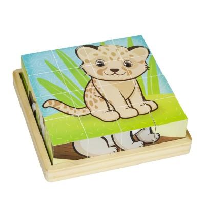 Okoïa Puzzle cubes 16 cubes : bébé animaux
