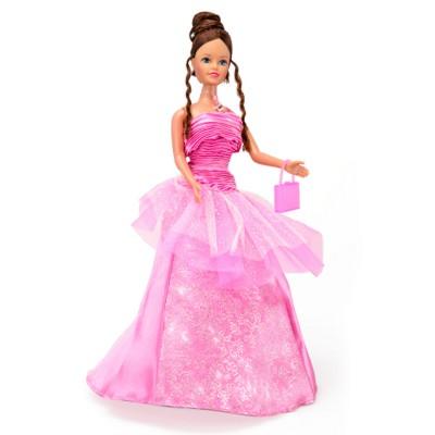 Jenny Poupée jenny romantique : robe rose fushia