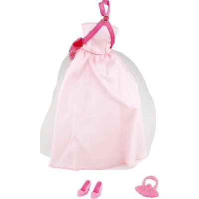 Jenny Vêtements pour poupée jenny : robe de soirée rose pâle