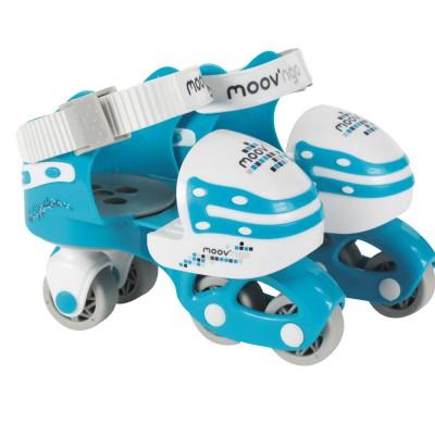 Moov ngo Rollers en ligne évolutifs et ajustables pointure 25/32 : Bleu