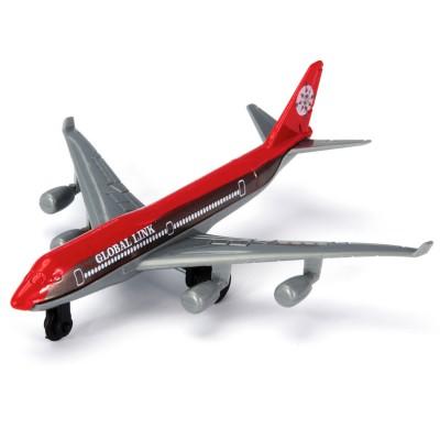 John World avion de ligne en métal : rouge