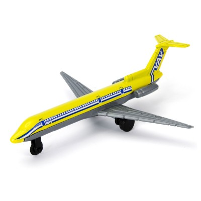 John World avion de ligne en métal : jaune