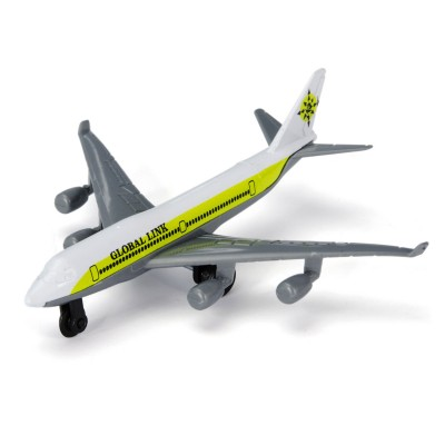 John World avion de ligne en métal : blanc