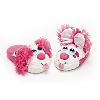 Lgri Chaussons chien rose taille s (28/30)
