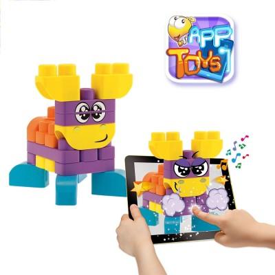 Chicco Blocs de construction app toys : 40 pièces : animaux de la ferme