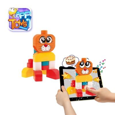 Chicco Blocs de construction app toys : 15 pièces : chien et chat