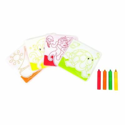 Babysun Cartes de bain à colorier et ses crayons
