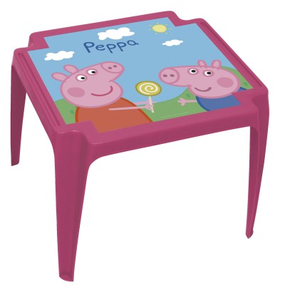 Room Studio table en plastique : peppa pig