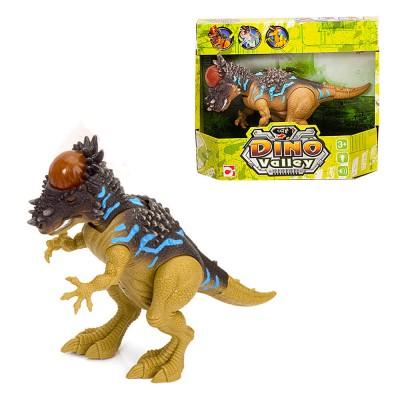 Chap Mei figurine dino valley sonore : dinosaure marron