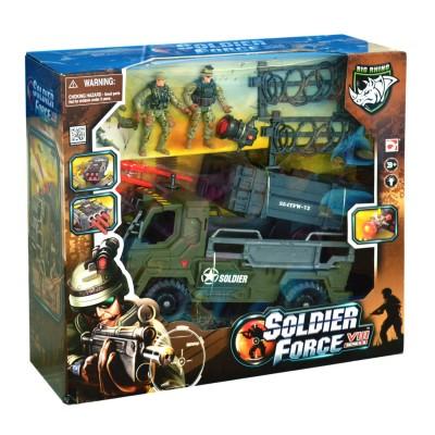 Chap Mei Coffret Soldier Force : Camion électronique et deux figurines