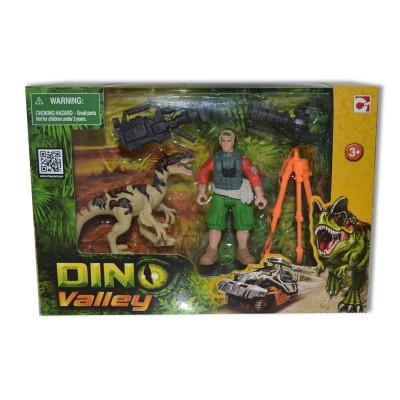 Chap Mei coffret dino valley : dinosaure beige et figurine caméraman