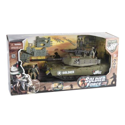 Chap Mei véhicule de patrouille soldier force viii et figurines : char d'assaut 39 cm