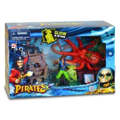 Chap Mei figurine pirate avec accessoires : pieuvre