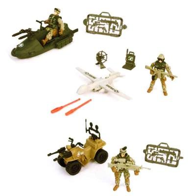 Chap Mei coffret soldier forced viii : véhicule, figurine et armes : a l'assortiment