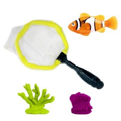 Splash Toys Jouet pour le bain : Robo fish avec épuisette : Poisson clown