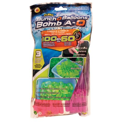 Splash Toys bombe à eau bomb a-O bunch a-o balloons : recharge rose/blanc/violet