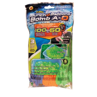 Splash Toys bombe à eau bomb a-O bunch a-o balloons : recharge bleu/orange/vert