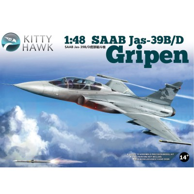 Kitty Hawk maquette avion : saab jas-39 b/d