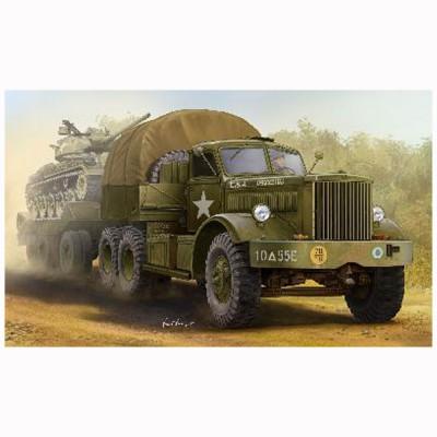 Merit Maquette camion tracteur et porte char US M19 (cabine fermée)