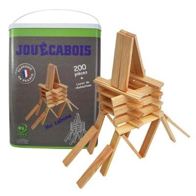 Jouécabois Baril de 200 planchettes en bois