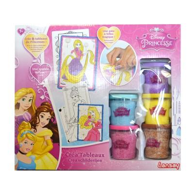 Lansay Créa'tableaux en pâte à billes magique Princesses Disney