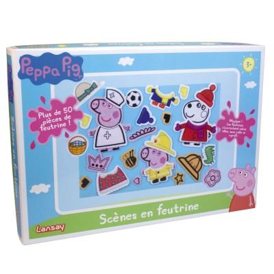 Lansay Kit créatif Peppa Pig : Scènes en feutrine
