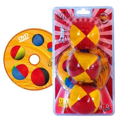 Oid Magic jonglerie arlette gruss : balles de jonglage avec dvd