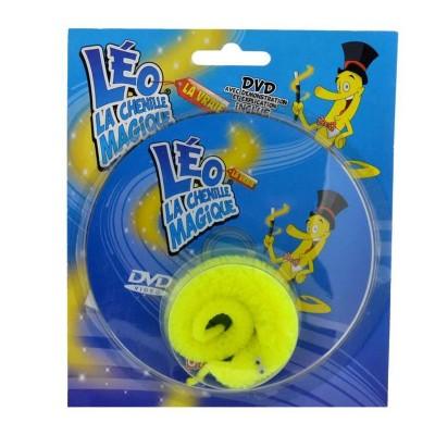 OID Magic Léo la chenille magique avec verre, tomate et DVD : jaune