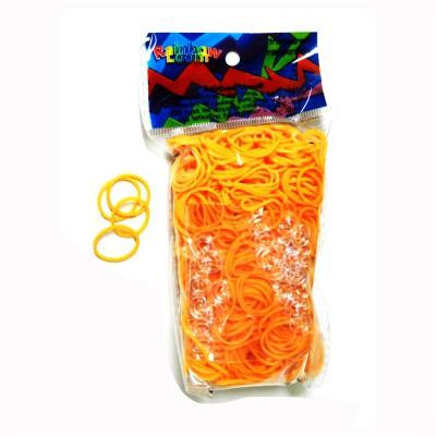 Rainbow Loom rainbow loom recharge élastiques : orange fluo