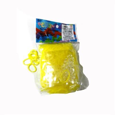 Rainbow Loom rainbow loom recharge élastiques : jaune jelly