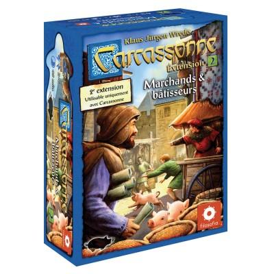 Asmodée Carcassonne extension n°2 : marchands et bâtisseurs