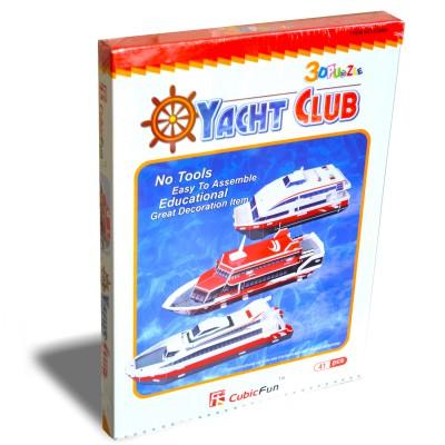 Cubicfun Puzzle 3d 41 pièces : yacht club
