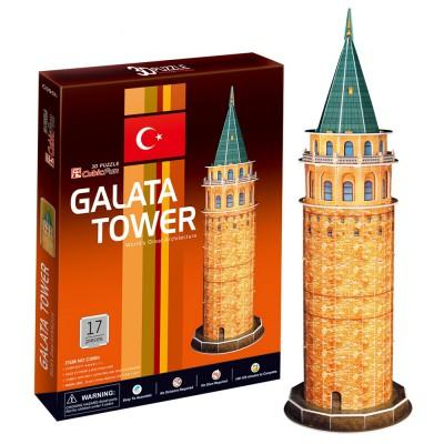 CubicFun Puzzle 3D 17 pièces : Tour de Galata, Turquie