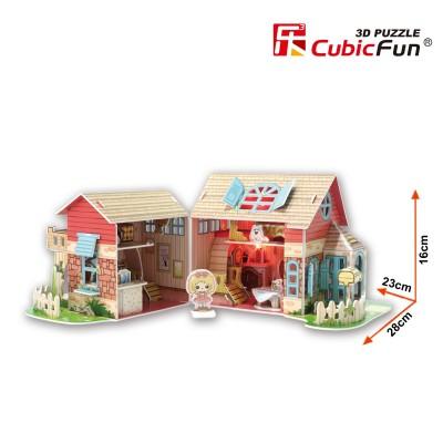 Cubicfun Puzzle 3d 84 pièces : sweet villa