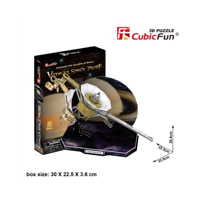 CubicFun Puzzle 3D 71 pièces : Voyager Space Probe