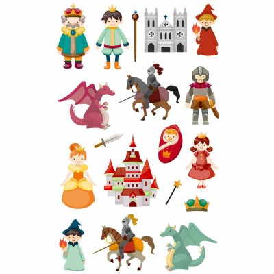 Maildor Stickers cooky 1 planche : chevaliers