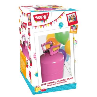 Yoopy Kit de gonflage à l'hélium avec ballons