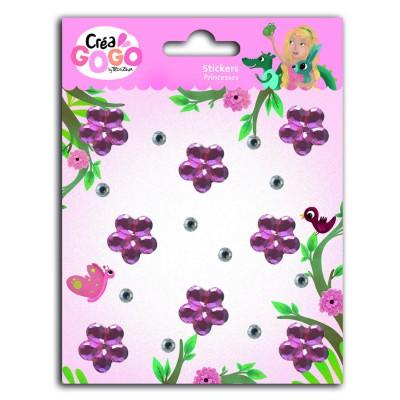 Teo & Zina Stickers Princesses : Strass