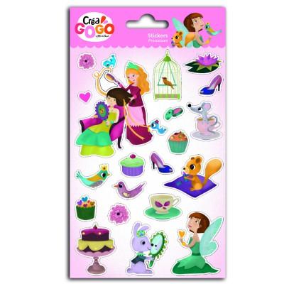 Teo & Zina Stickers Princesses : Argent