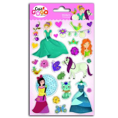 Teo & Zina Stickers Princesses : Glitter
