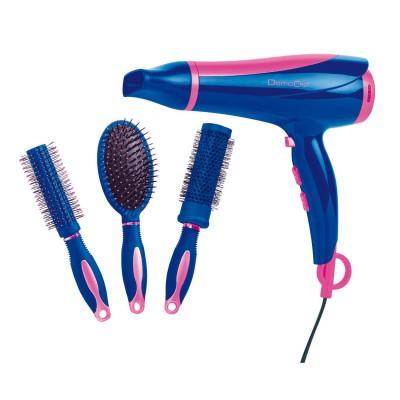 Domoclip Set de coiffure sèche -Cheveux et brosse