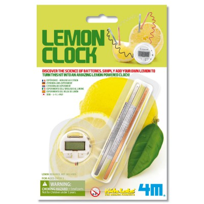 4m - kidz labs jeu scientifique kidslabs : horloge citron