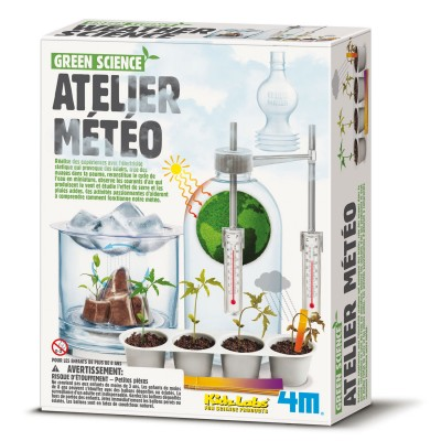 4m - kidz labs kit de fabrication green science : atelier météo