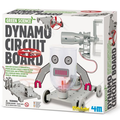 4m - kidz labs kit de fabrication green science : circuit dynamo