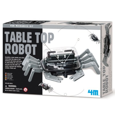 4m - kidz labs kit de fabrication fun mechanics : robot pour table