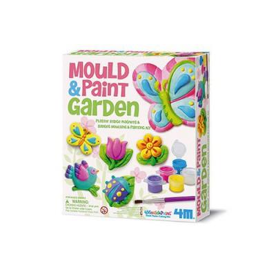 4m - kidz labs kit de moulage plâtre : jardin