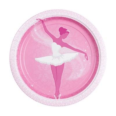 Amscan Assiettes en carton danseuse étoile : 8 assiettes de fête