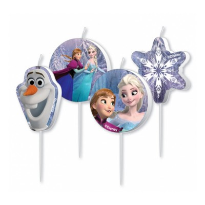 Amscan Bougies anniversaire la reine des neiges - frozen x4